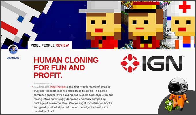 IGN: Pixel People is AMAZING.9/10!