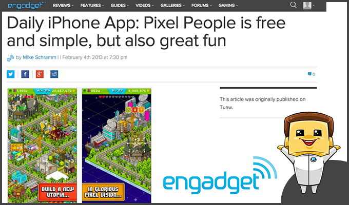 Engadget gets their hands on PixelPeople!