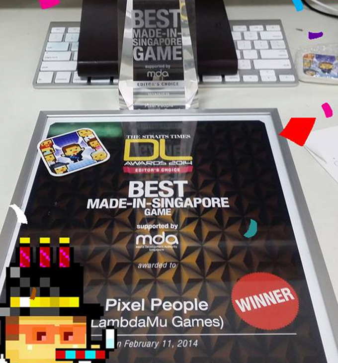 Pixel People wins Best Singapore Game2014!